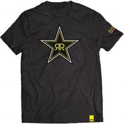 TEE-SHIRT HOMME SHOT ROCKSTAR BLACK STAR