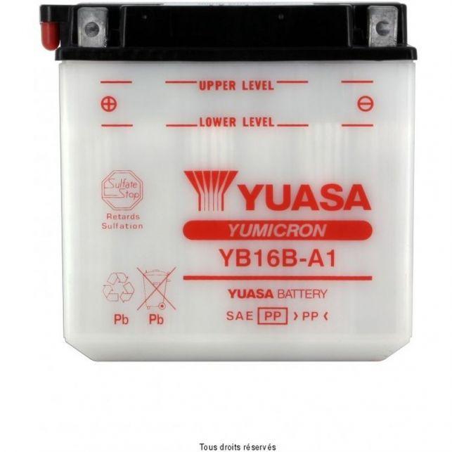 Batterie YUASA YB16B-A1 avec entretien