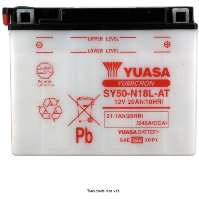 Batterie YUASA SY50-N18L-AT avec entretien