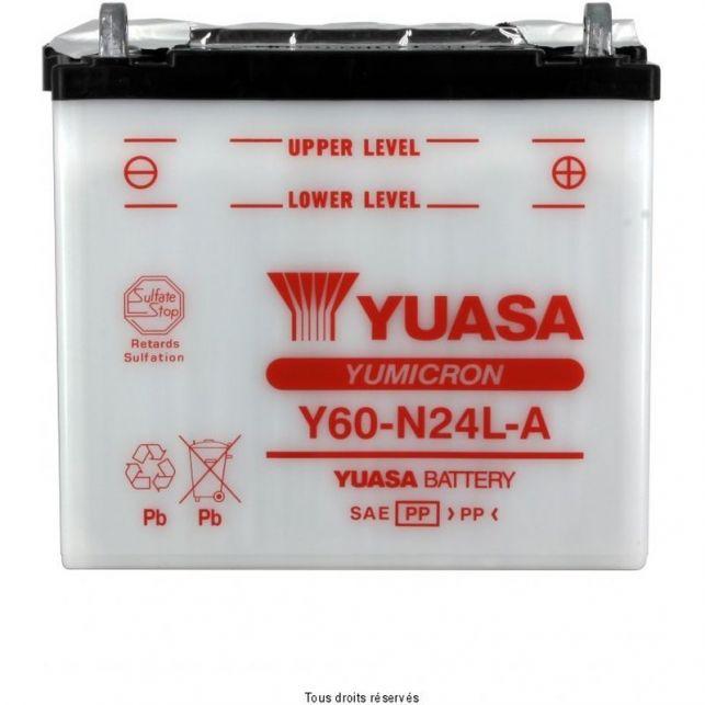 Batterie YUASA Y60-N24L-A avec entretien