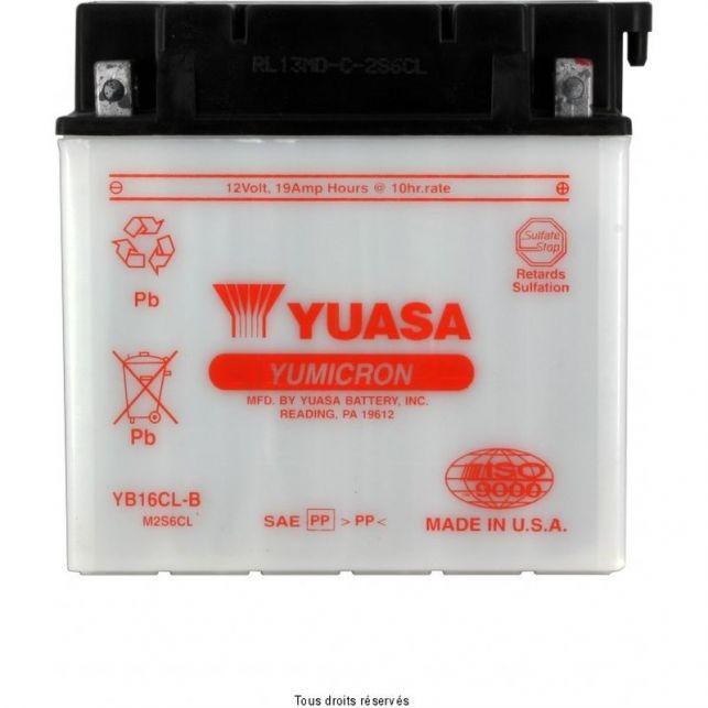 Batterie YUASA YB16CL-B avec entretien