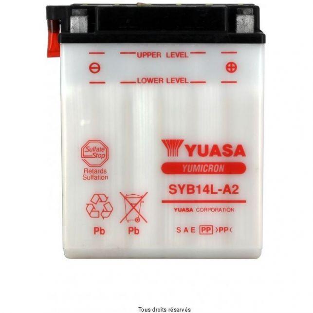 Batterie YUASA SYB14L-A2 avec entretien
