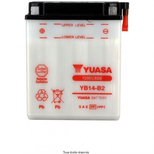 Batterie YUASA YB14-B2 avec entretien