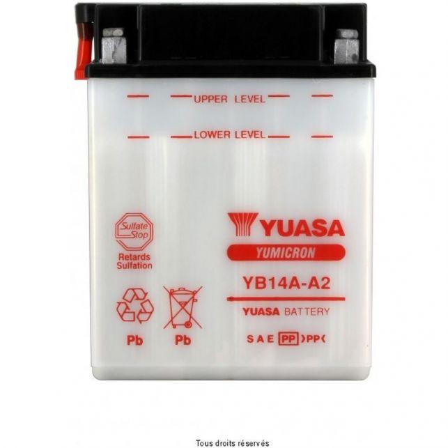 Batterie YUASA YB14A-A2 avec entretien