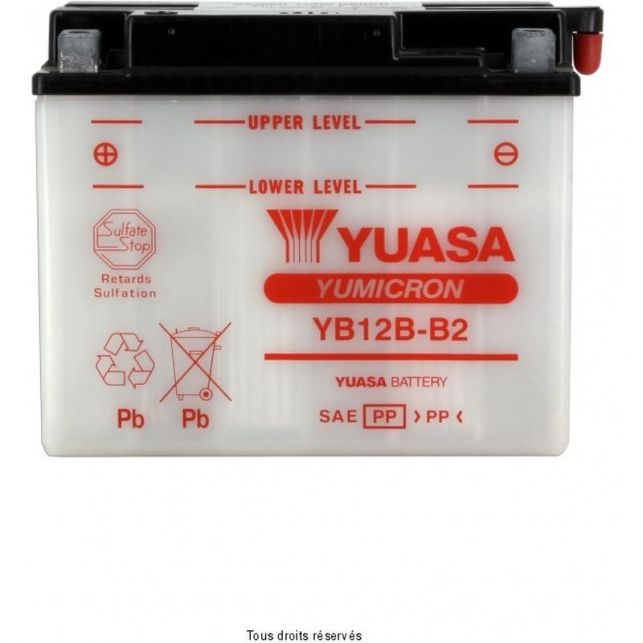 Batterie YUASA YB12B-B2 avec entretien