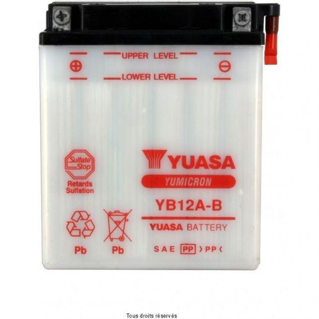 Batterie YUASA YB12A-B avec entretien