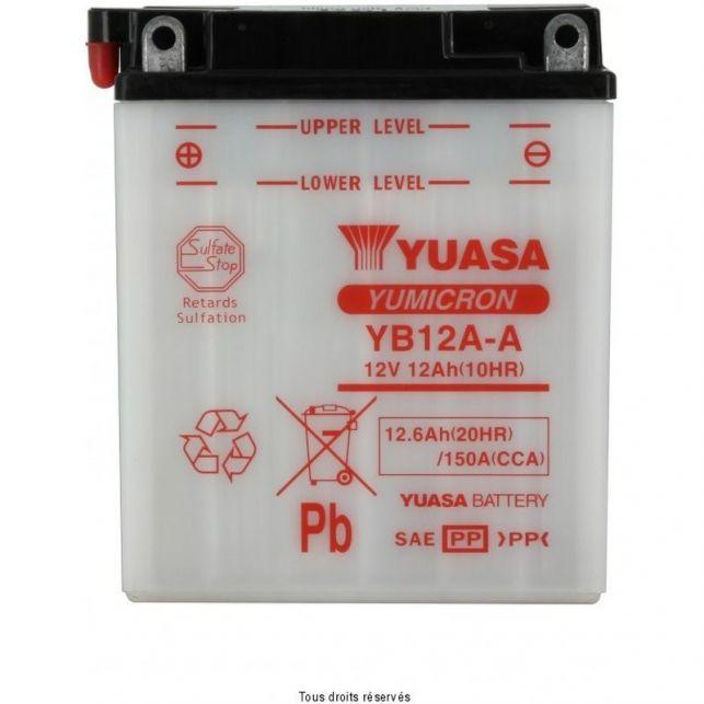Batterie YUASA YB12A-A avec entretien