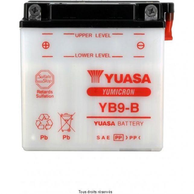 Batterie YUASA YB9-B avec entretien