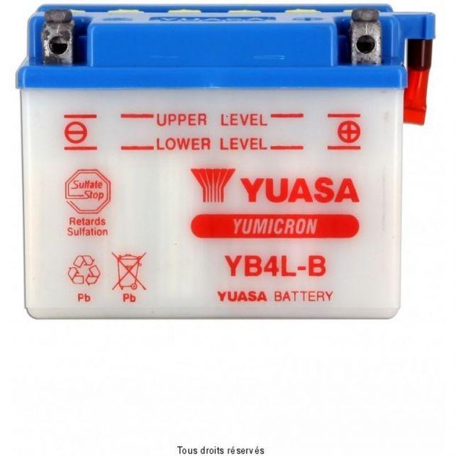 Batterie YUASA YB4L-B avec entretien