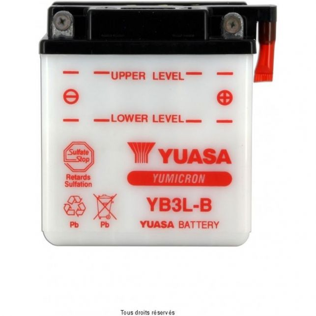 Batterie YUASA YB3L-B avec entretien