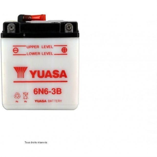 Batterie YUASA 6N6-3B avec entretien