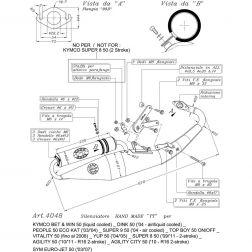 LIGNE COMPLETE LEOVINCE HAND MADE TT ALUMINUM 4048