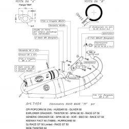 LIGNE COMPLETE LEOVINCE HAND MADE TT ALUMINUM 7404