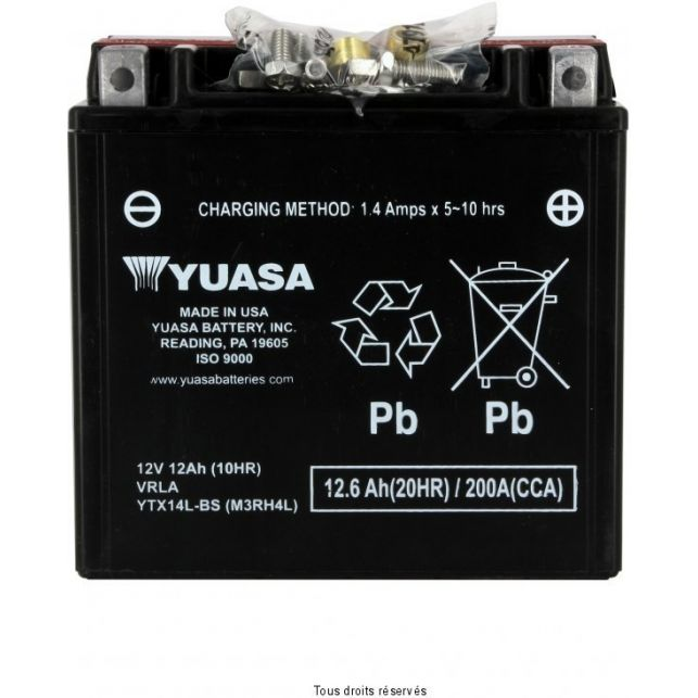 Batterie YUASA YTX14-LBS sans entretien