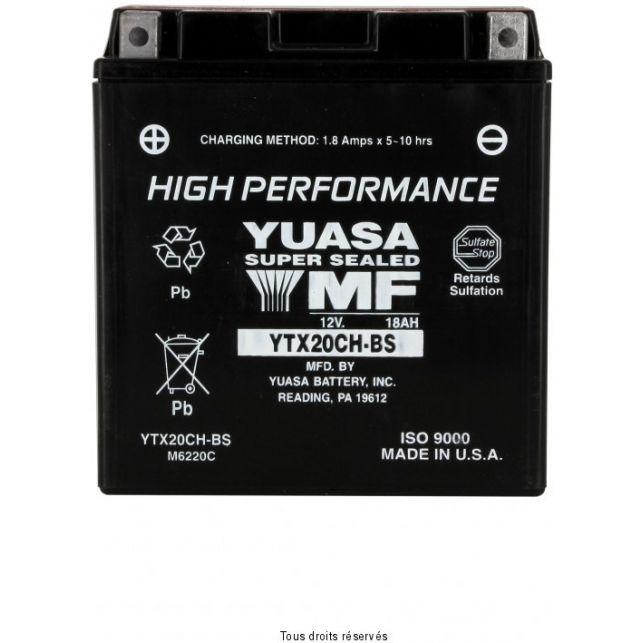 Batterie YUASA YTX20CH-BS sans entretien