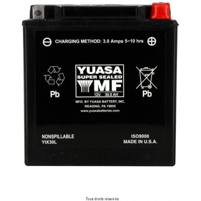 Batterie YUASA YIX30L sans entretien