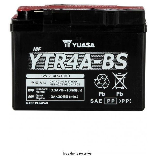 Batterie YUASA YTR4A-BS sans entretien