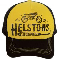 CASQUETTE HELSTON'S TRUCKER FILET CAFE RACER