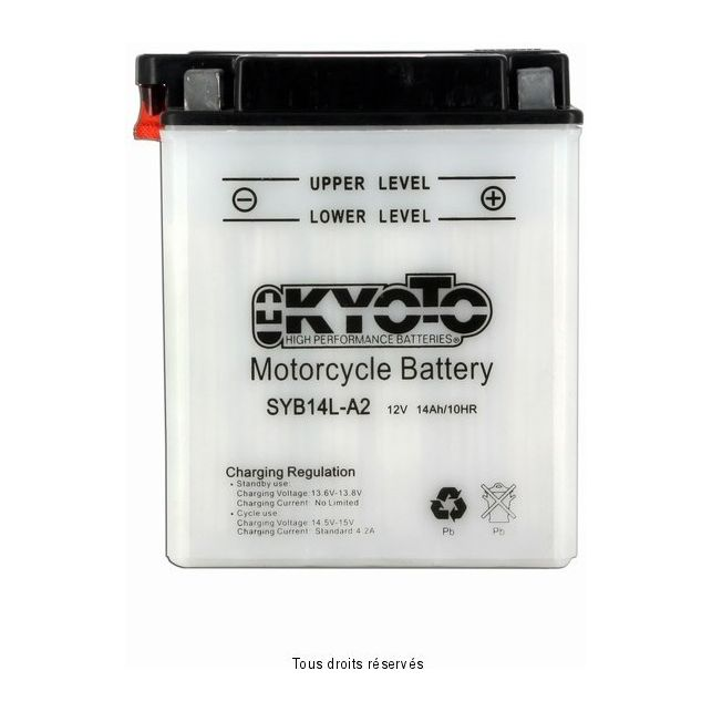 Batterie KYOTO SYB14L-A2 avec entretien