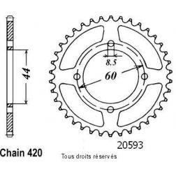 Couronne 50 à boite 20593CZ52 pour DTR 50 VITESSE / X-LI