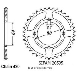 Couronne 50 à boite 20595CZ37 pour LC 50 BOP 80-81