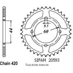 Couronne 50 à boite 20593CZ42 pour DT 50 MX 81-85