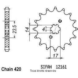 Pignon 50 à boite 12161CZ15 pour DERBI 06-