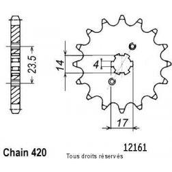 Pignon 50 à boite 12161CZ11 pour DERBI 06-