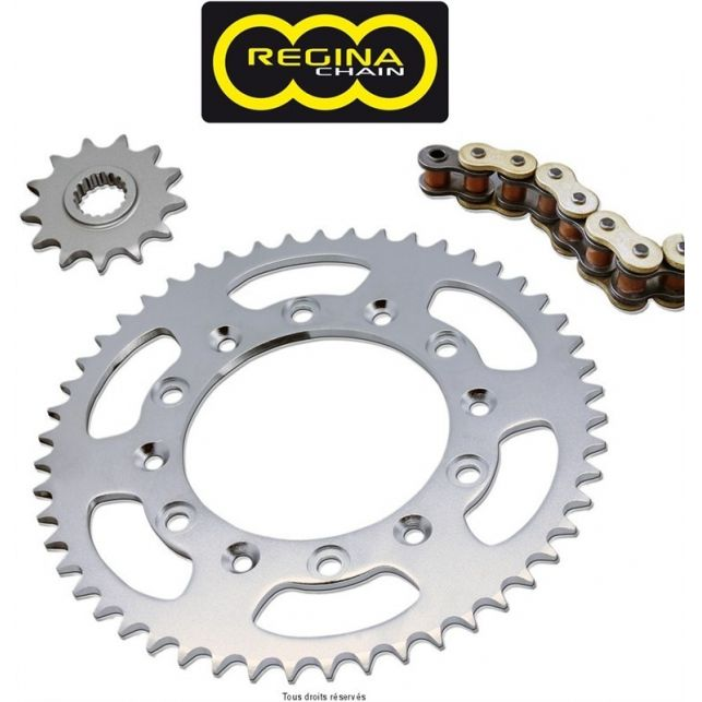 Kit chaine REGINA Suzuki Rv 125 Van Van standard An 73 77 Kit 15 51