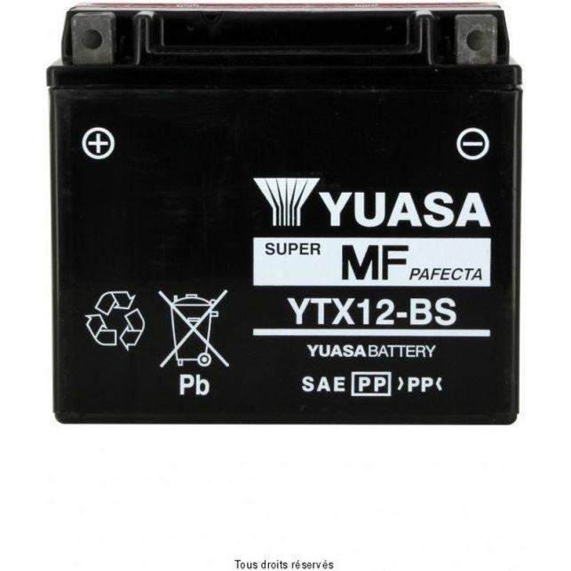 Batterie YUASA YTX12-BS sans entretien